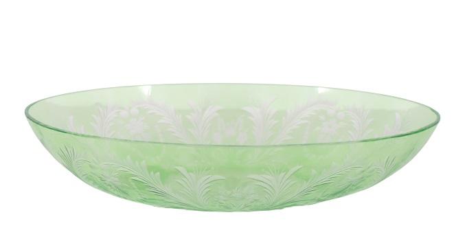 Steuben Oval Bowl w/ Floral Motif