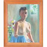 Portrait of Nude, 20th C, Oil on Canvas