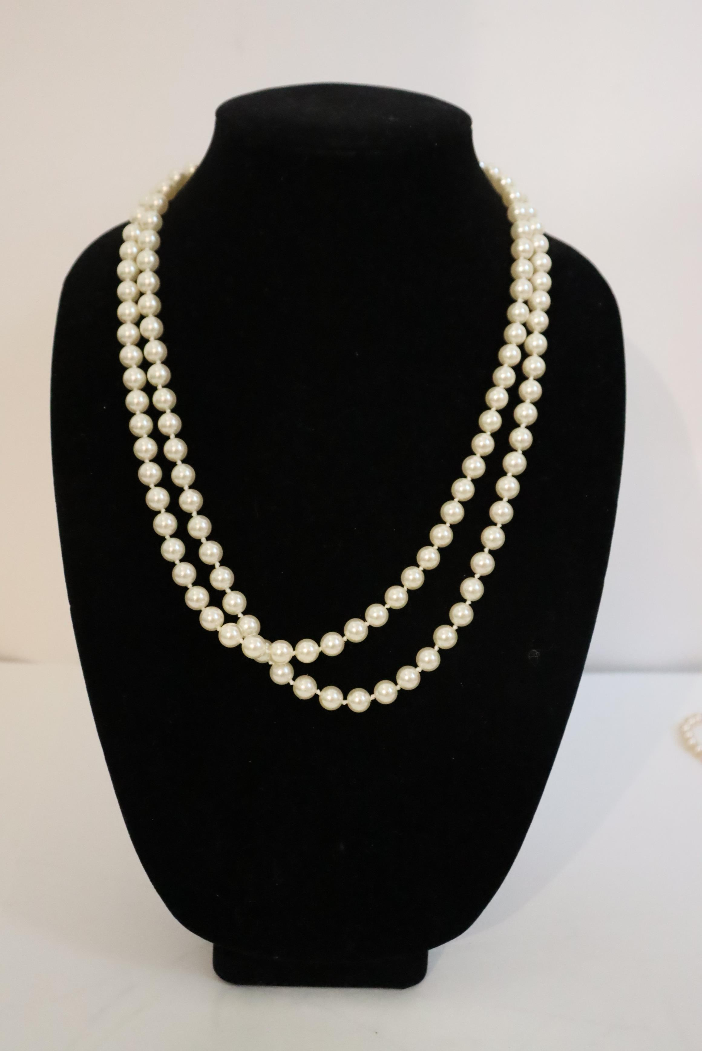 Large Collection of (10) Pearl / Beaded Necklaces - Image 5 of 20