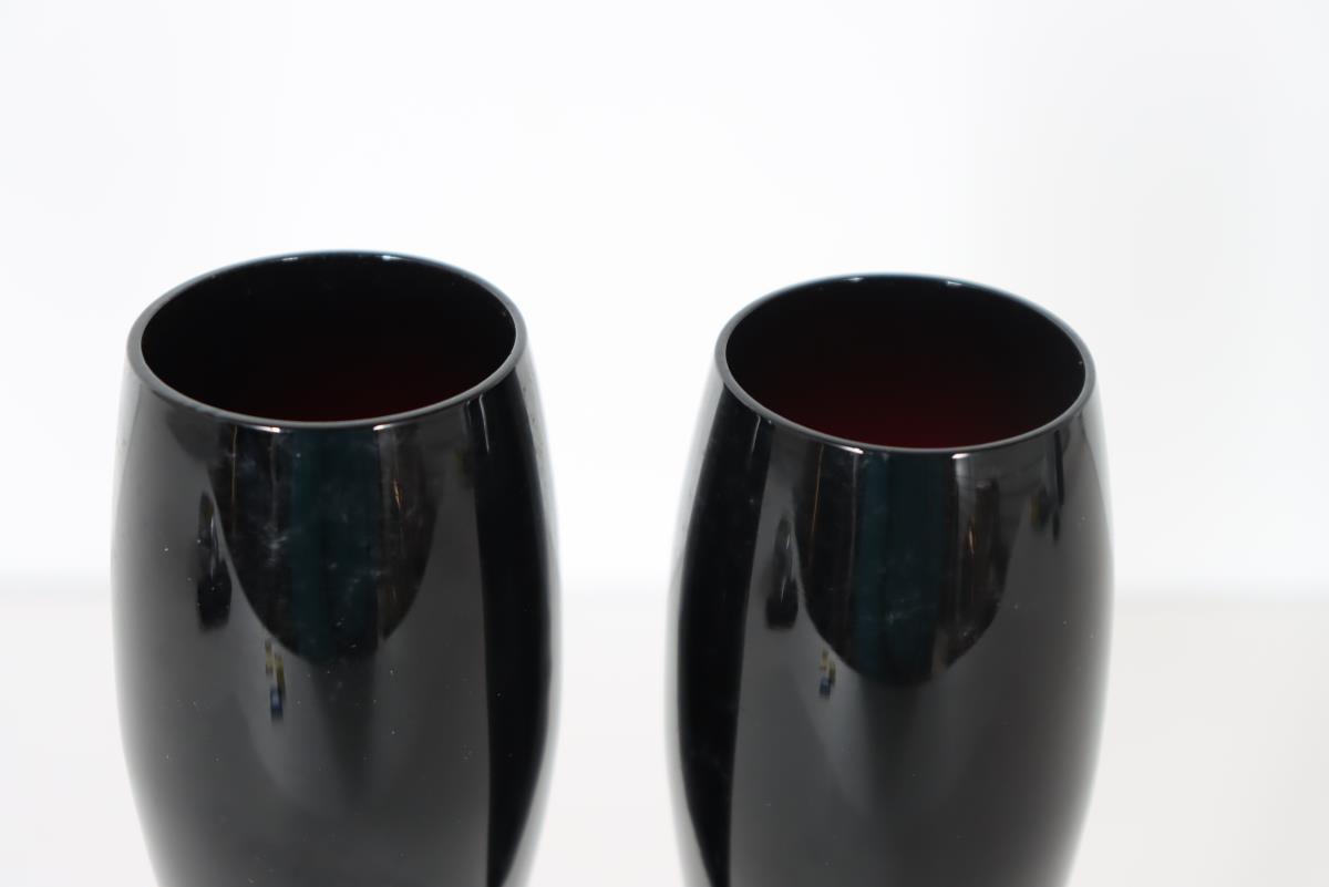 (2) Art Glass Champagne Glasses - Image 4 of 4