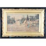 Antique 18th Century Park Scene, Oil