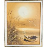 H Gailey Seascape Oil on Canvas Painting