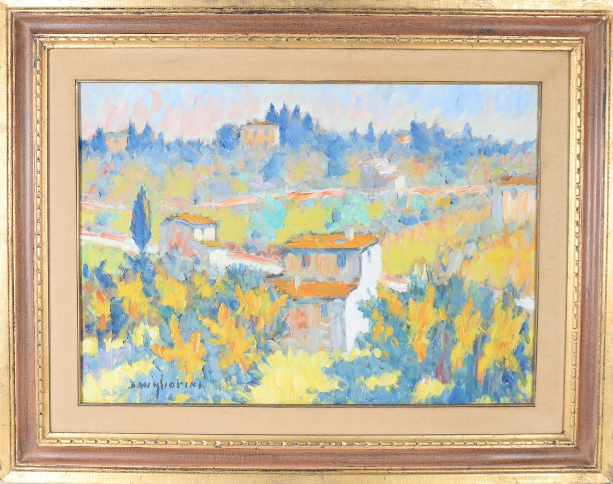 Dino Migliorini (1909-2005) Italian, Oil on Board - Image 2 of 4