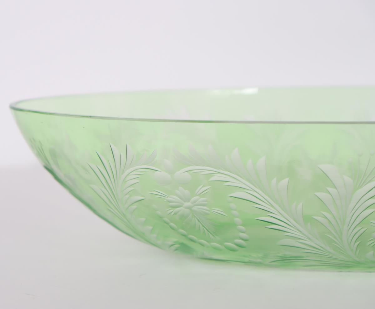 Steuben Oval Bowl w/ Floral Motif - Image 2 of 3