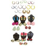 Large Collection of Ladies Earrings, 23 Pairs