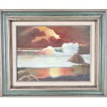 Signed Seascape, Oil on Canvas