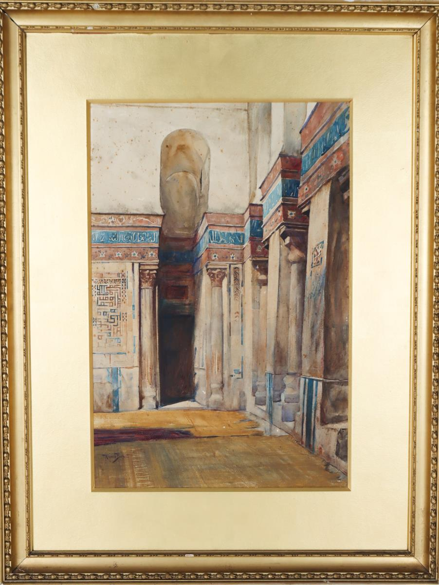 Signed Late 19th/Early 20th C Watercolor