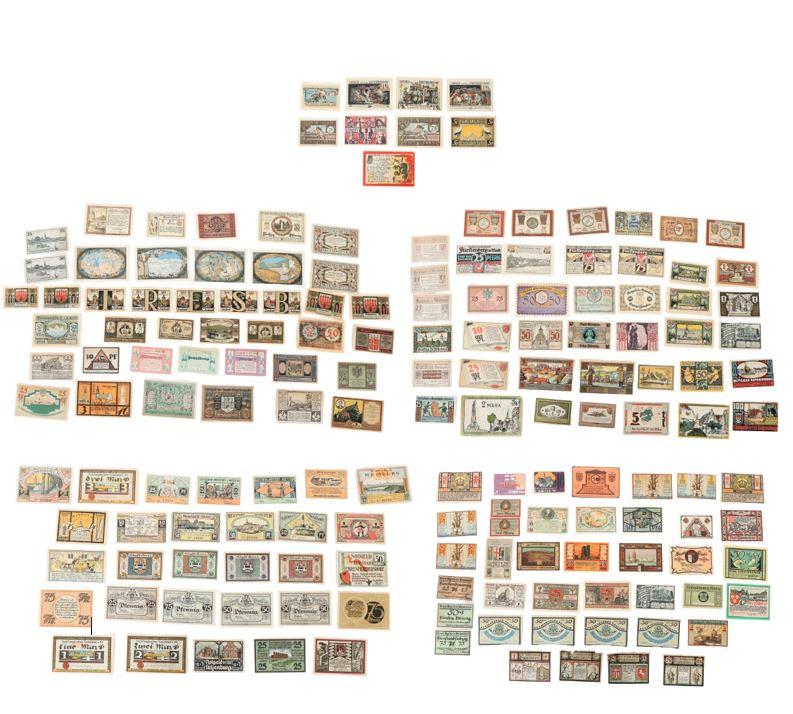 (161) German Banknotes and Notgeld (1922)
