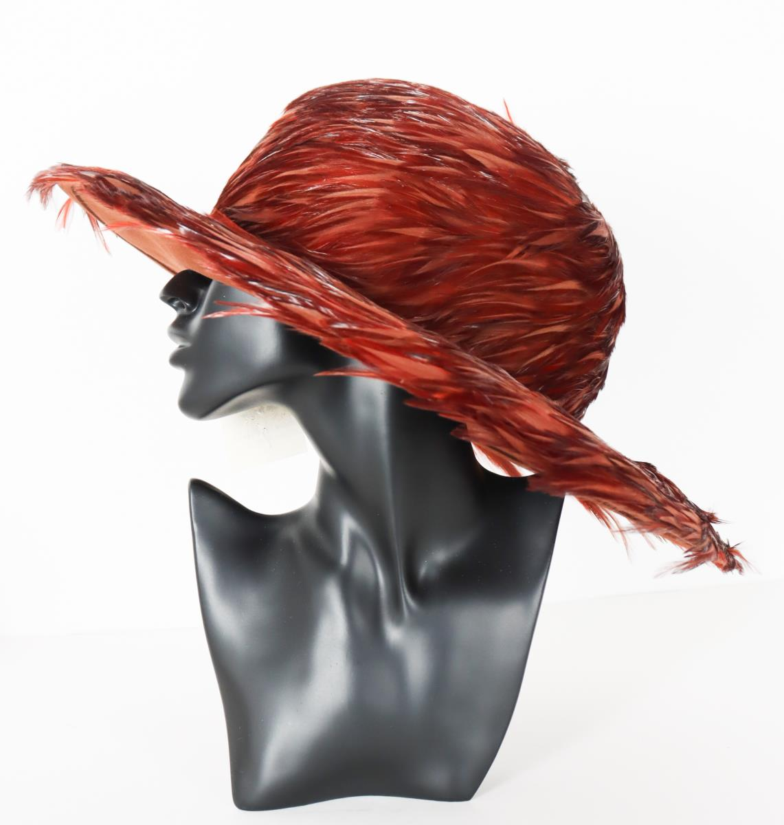Patricia Underwood Feather Hat - Image 8 of 9
