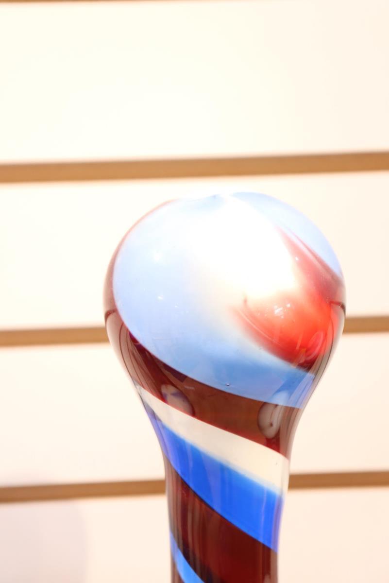Free-Blown Glass Walking Stick / Parade Staff - Image 3 of 4
