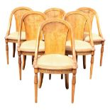 Set of (6) Dining Chairs w Upholstered Seats