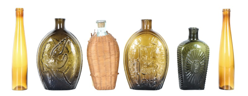Collection of (6) Antique Glass Bottles