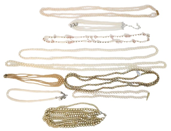 Large Collection of (10) Pearl / Beaded Necklaces