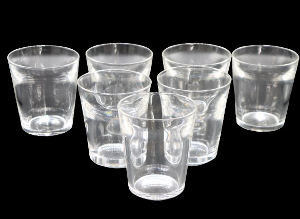 (7) Signed Steuben Glass Tumblers