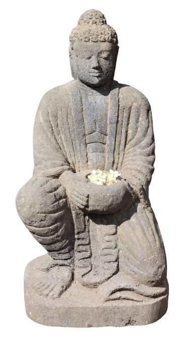 Sand Stone Buddha Garden Statue - Image 2 of 4