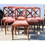 (6) 19th C Mahogany Carved Chairs, Circa 1840
