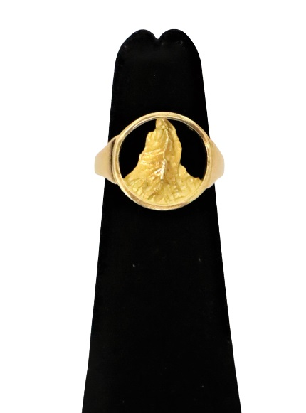 18K Yellow Gold Unique Ring, 2.3 DWT