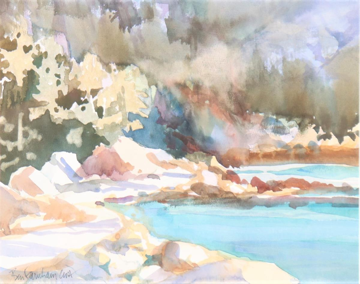 Ben Farnham (b.1926) American, Watercolor - Image 3 of 4