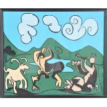 "Pablo Picasso ""Faun & Goat"" Print"