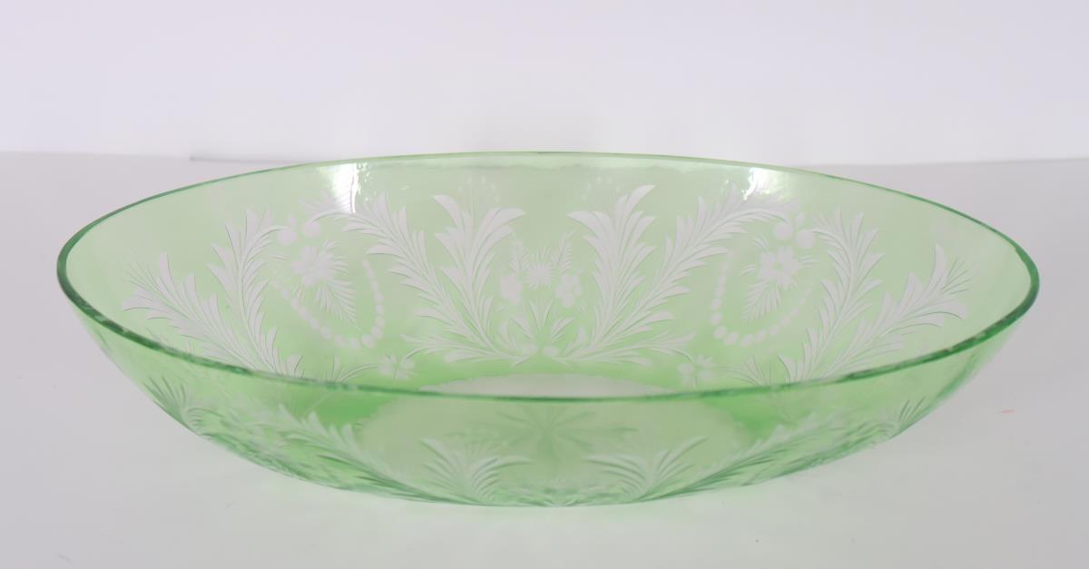 Steuben Oval Bowl w/ Floral Motif - Image 3 of 3