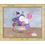 Floral Still Life, 20th C., Oil on Canvas Board