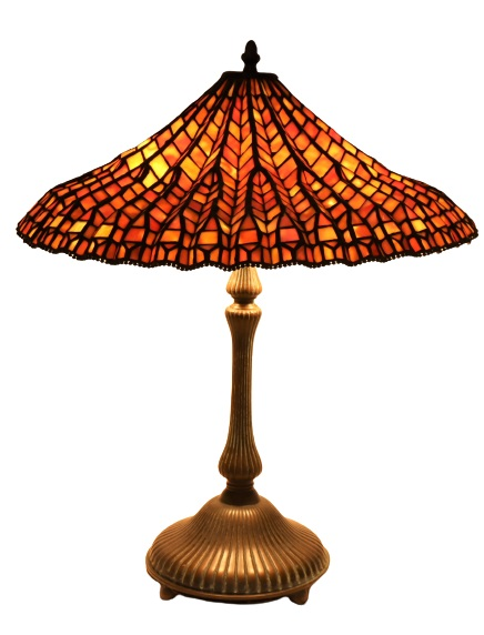 Stained Glass Lamp Signed Dale Tiffany