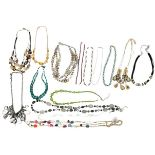 Large Collection of 15 Beaded Necklaces