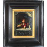 Figure at Window, Oil on Board