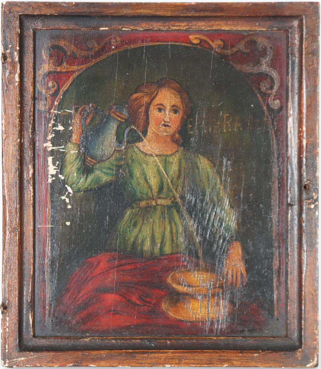 Collection of Four Paintings of Saints on Panel - Image 4 of 9