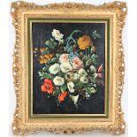 Floral Still Life, Oil on Board
