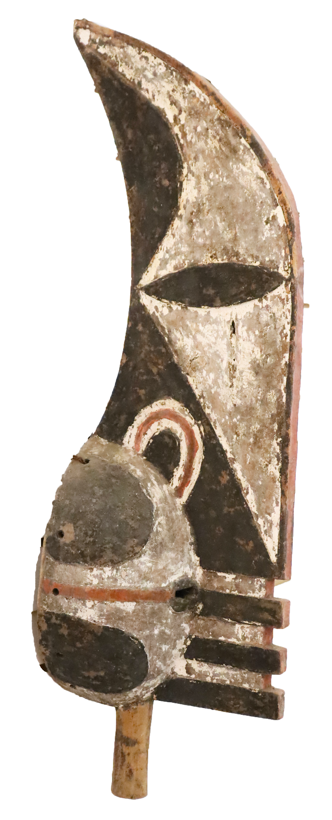 Papua New Guinea Polychrome Wood Mask Sculpture - Image 2 of 3