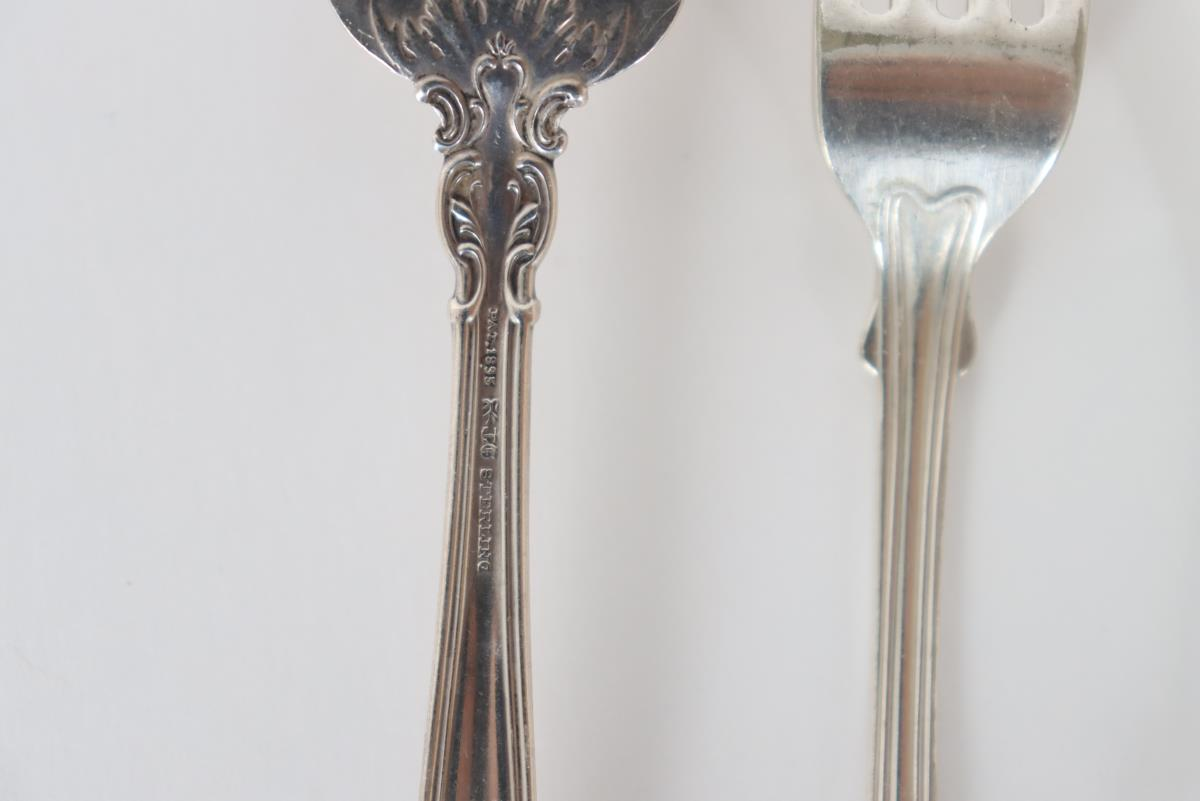 Set of (19) Silver Cutlery Pieces, 11 OZT - Image 12 of 16