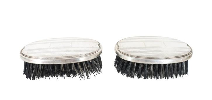 (2) Pair of Webster Sterling Handled Brushes