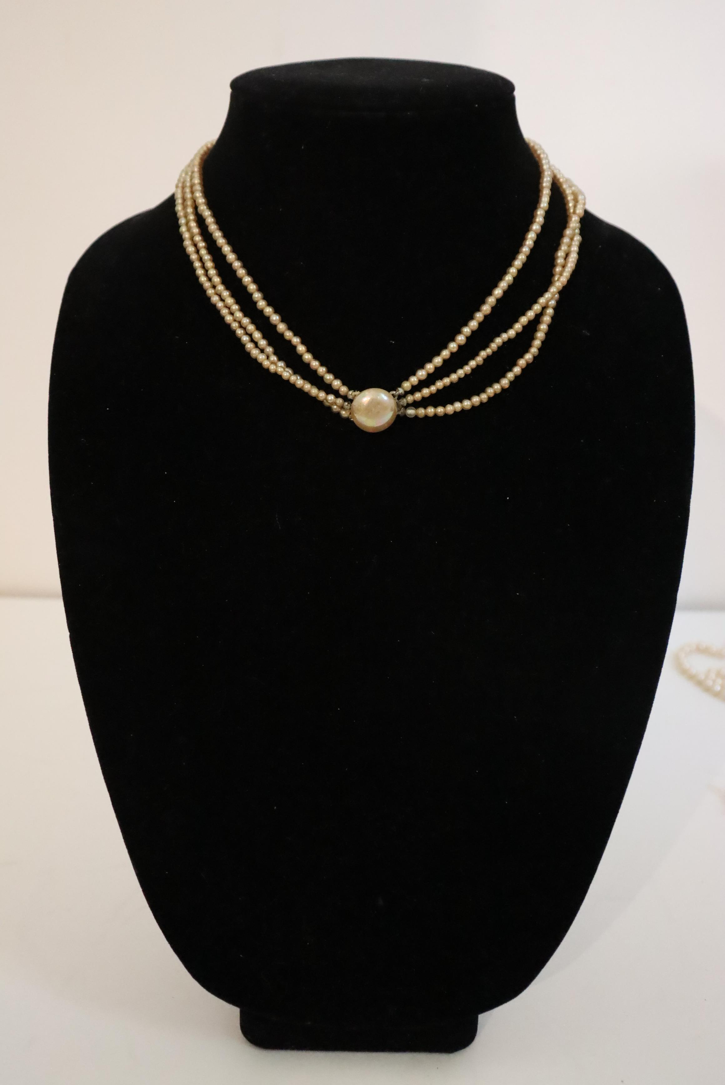 Large Collection of (10) Pearl / Beaded Necklaces - Image 8 of 20