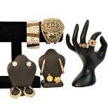 Ladies Gilt Jewelry, (9) Pieces