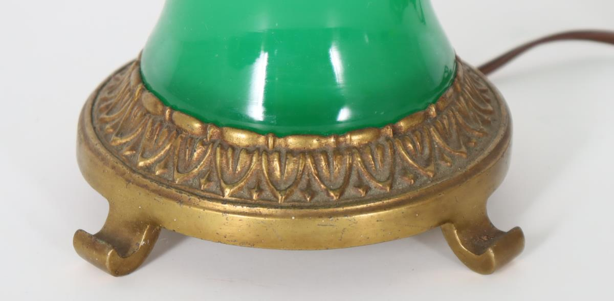 Steuben Green Jade Lamp - Image 3 of 3