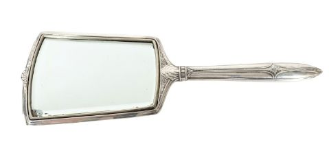 Antique Sterling Silver Bed Side Mirror