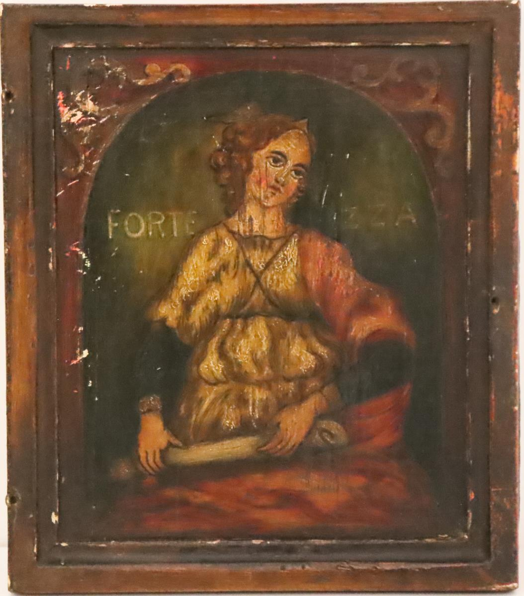 Collection of Four Paintings of Saints on Panel - Image 7 of 9