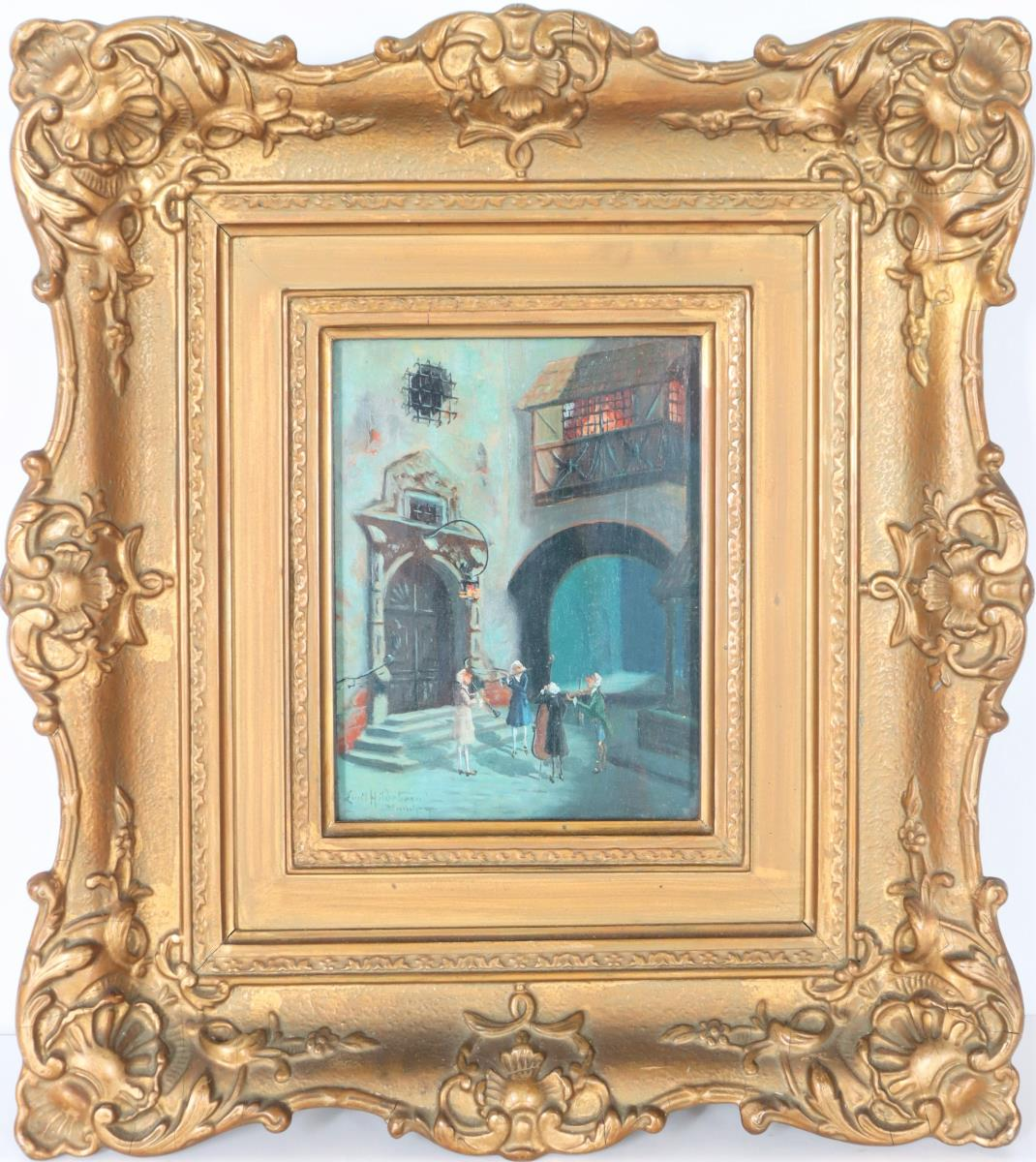 Emil Hildebrand (19th C.) German, Oil on Board - Image 2 of 4