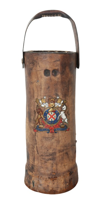 British Leather Fire Bucket - Image 2 of 5