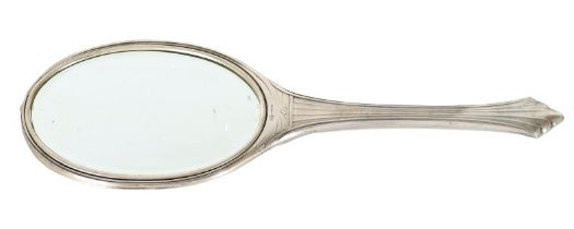 Antique Sterling Silver Oval Hand Mirror