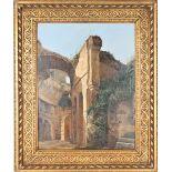 Classical Scene of Ruins, Oil on Board