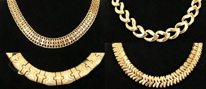 Set of (4) Gilt Chain Necklaces - Image 2 of 8