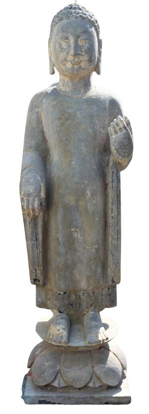 Standing Buddha Garden Statue