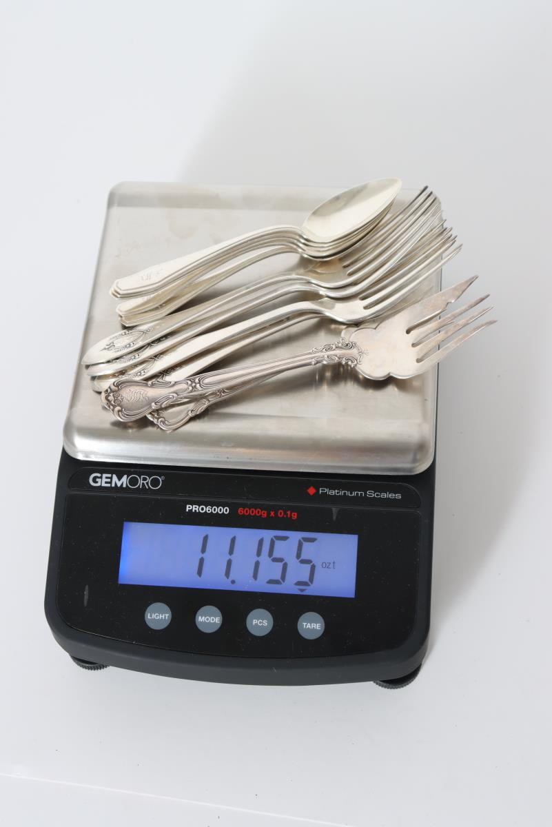 Set of (19) Silver Cutlery Pieces, 11 OZT - Image 13 of 16