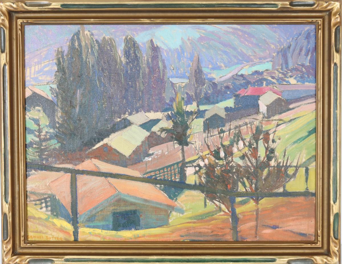 Walter Samuel Sutter (1888-1938) American, O/C - Image 2 of 4