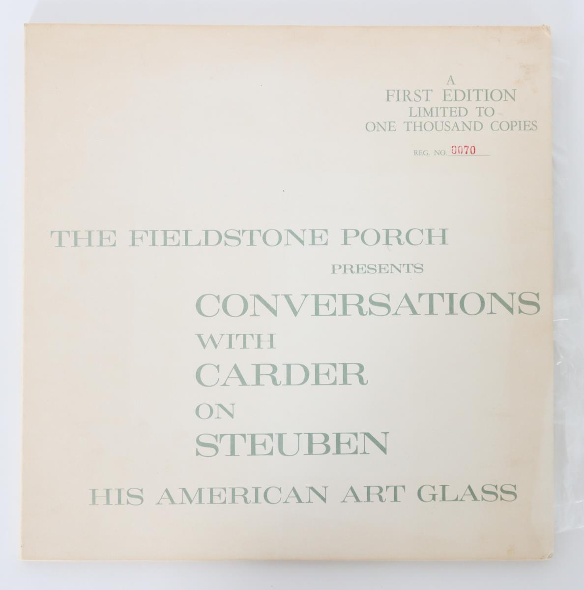 Frederick Carder Steuben Art Glass Booklet and LP