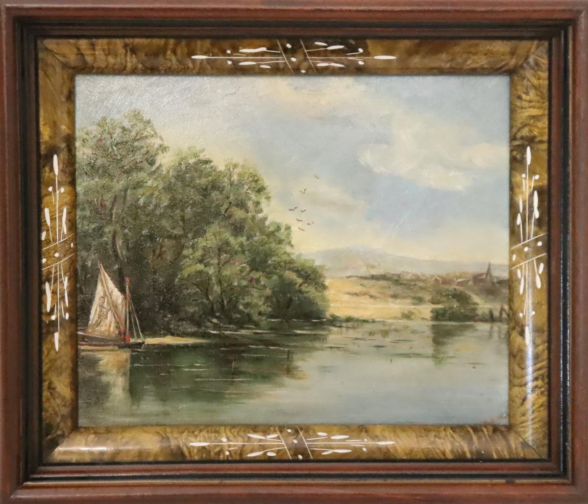 Early 20th Century Signed Oil on Board