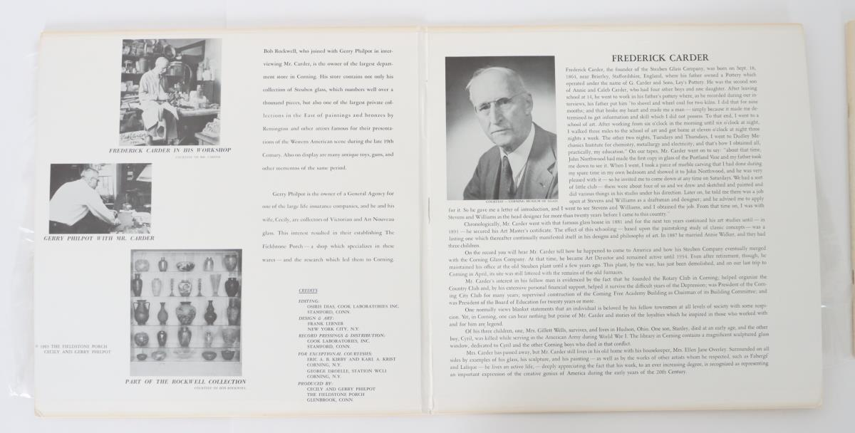 Frederick Carder Steuben Art Glass Booklet and LP - Image 2 of 3