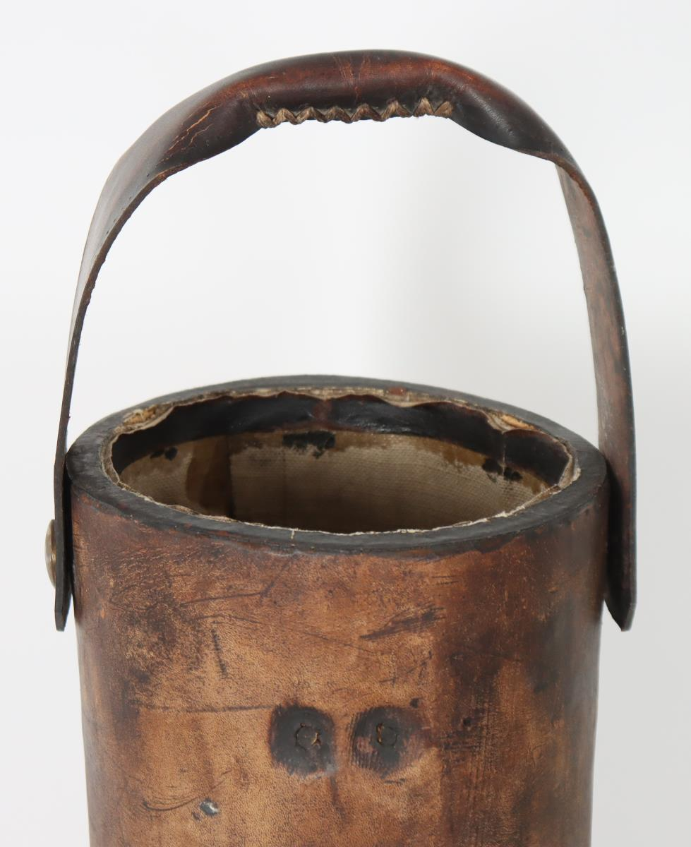 British Leather Fire Bucket - Image 4 of 5